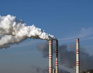Smoke Stacks billowing pollution