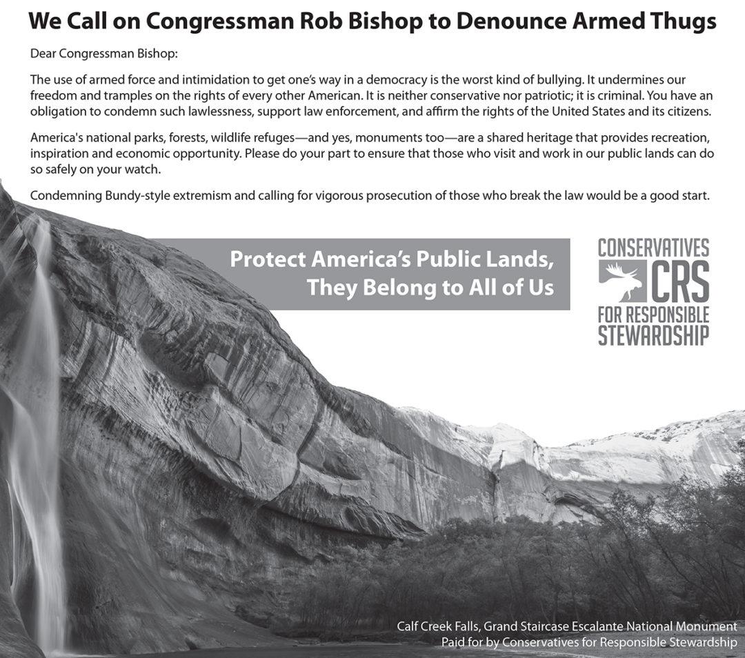 CRS Bishop / Bundy Ad - 04/19/16